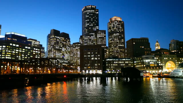 boston waterfront - establishing shot stock videos & royalty-free footage