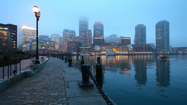 boston waterfront - waterfront stock videos and b-roll footage