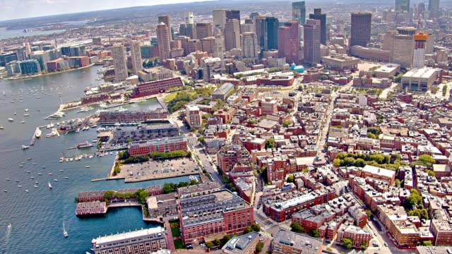 stockvideo's en b-roll-footage met boston's luchtfoto van residentiële district. massachusetts. - boston massachusetts