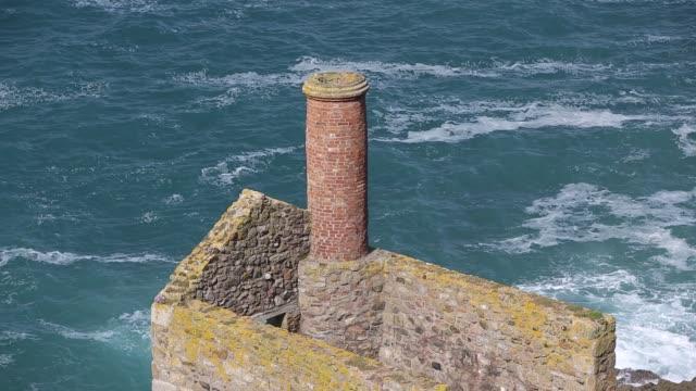 botallack tin mine on the coast in cornwall, uk. - tin mine stock videos & royalty-free footage