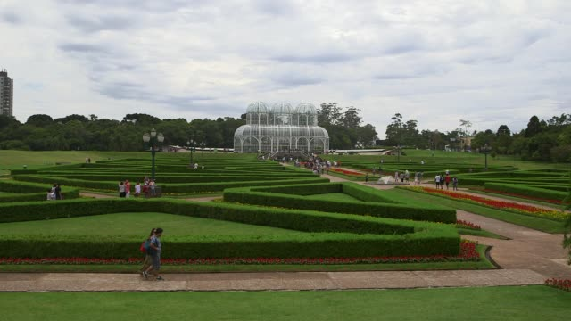 ls botanical garden of curitiba general views of curitiba ahead of the 2014 fifa world cup shot on 14th december 2013 - brasile meridionale video stock e b–roll