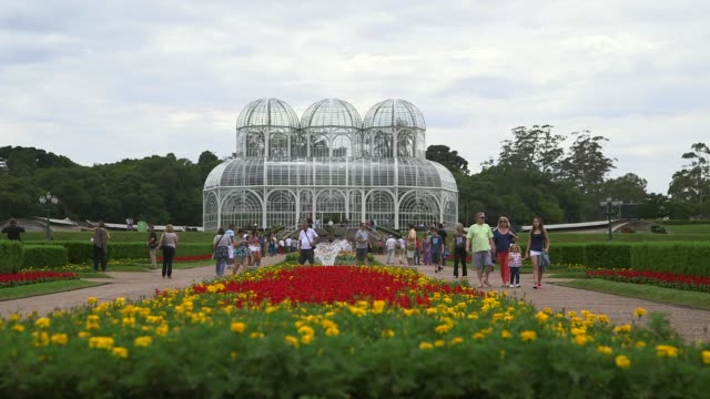 pfs botanical garden of curitiba general views of curitiba ahead of the 2014 fifa world cup shot on 14th december 2013 - brasile meridionale video stock e b–roll
