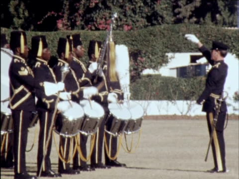 both black and white rhodesians officers participate in passing out parade 1970s - passing out parade stock videos & royalty-free footage