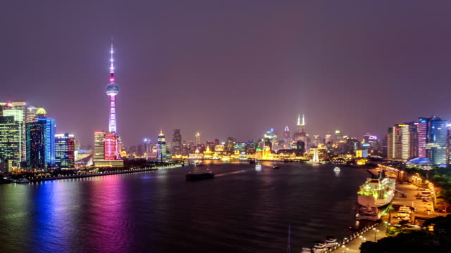 both sides of the huangpu river - river huangpu stock videos & royalty-free footage