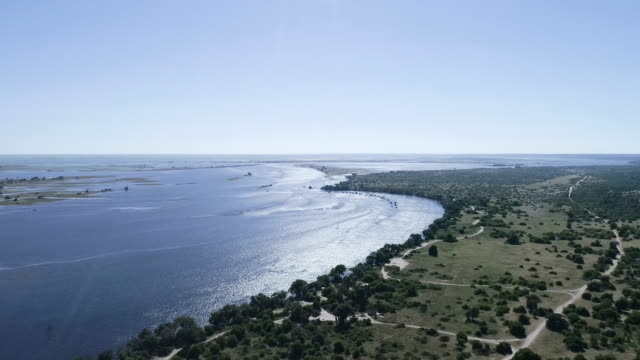 Botswana landscape. Chobe river. Aerial view