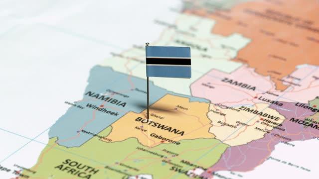 ボツワナの国旗 - ボツワナ点の映像素材/bロール