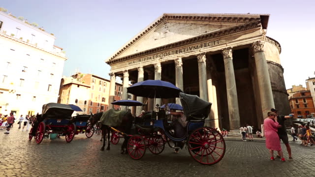 Botticella in Pantheon square in Rome