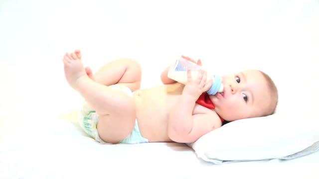 bottle baby - milk bottle stock videos & royalty-free footage