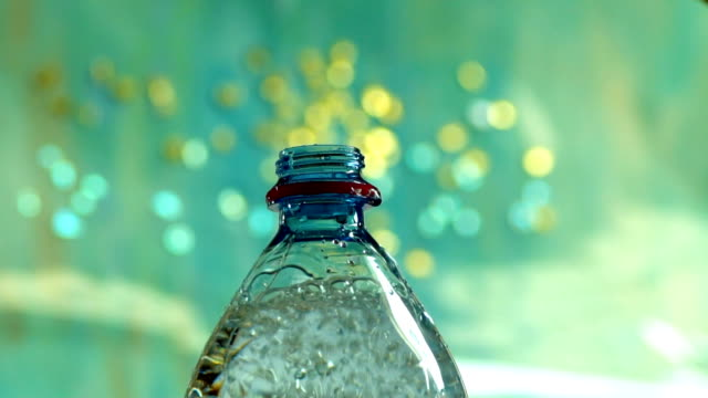 bottle with mineral water - water bottle stock videos and b-roll footage