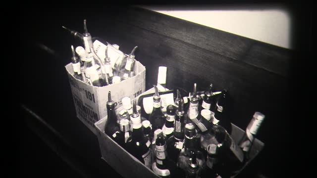 bottles of alcohol are taken from bar police confiscating alcohol - alcohol drink stock videos & royalty-free footage
