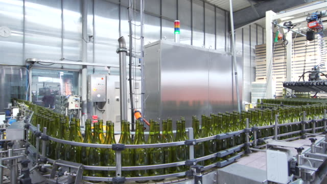 bottles on the bar for filling wine in france - vat stock videos & royalty-free footage