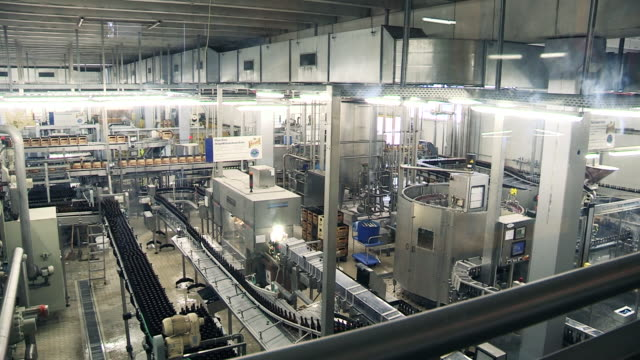bottling of beer. stralsund, germany - bottling plant stock videos & royalty-free footage