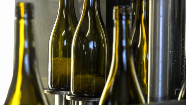 Bottling of wine in vinery