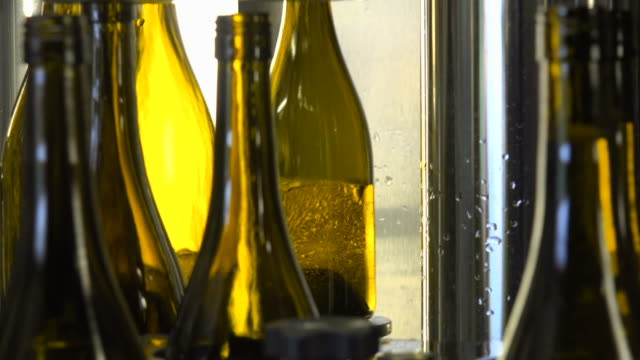 Bottling of wine in vinery