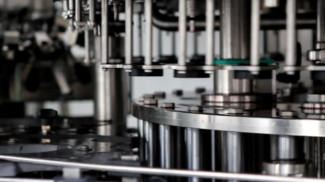 bottling plant (hd) - machine part stock videos & royalty-free footage