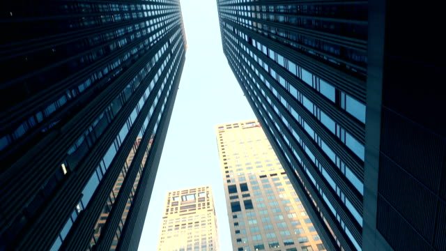 bottom view of modern skyscrapers - generic location stock videos & royalty-free footage