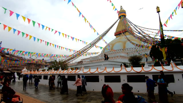 boudhanath stupa in kathmandu ,nepal - kathmandu stock videos & royalty-free footage