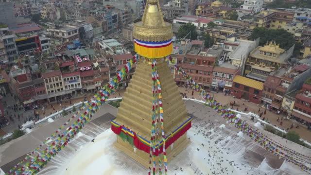 boudhanath stupa, kathmandu, nepal - kathmandu stock videos & royalty-free footage