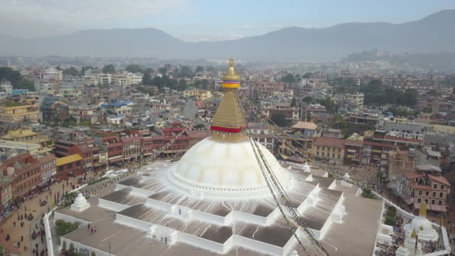 boudhanath stupa, kathmandu, nepal - circa 5th century stock videos & royalty-free footage