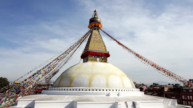 boudhanath stupa - stupa stock videos & royalty-free footage