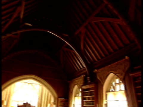 bought by national trust; lib seq interiors of tyntesfield house - tyntesfield点の映像素材/bロール