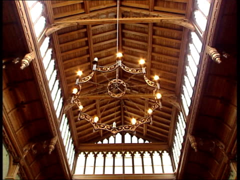bought by national trust; lib seq interiors of tyntesfield house - national trust video stock e b–roll