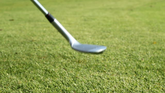 bounce a golf ball - golf ball stock videos and b-roll footage