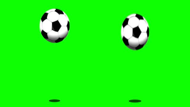 Springenden Ball auf green-screen