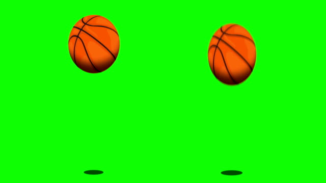 Bouncing ball on green screen