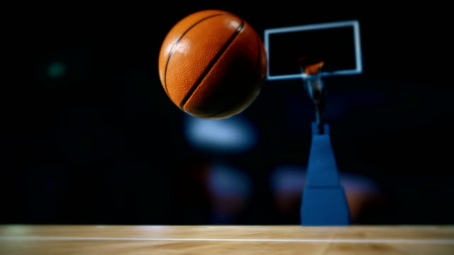 bouncing basketball on court - bouncing stock videos & royalty-free footage