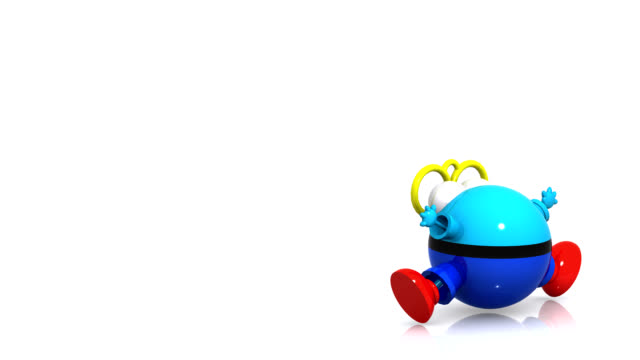 3d bouncing business character - loopable moving image stock videos & royalty-free footage