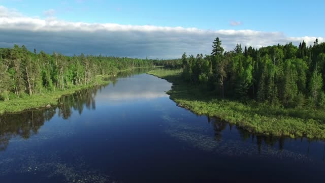 boundary waters edge minnesota - summer aerial - boundary stock videos & royalty-free footage