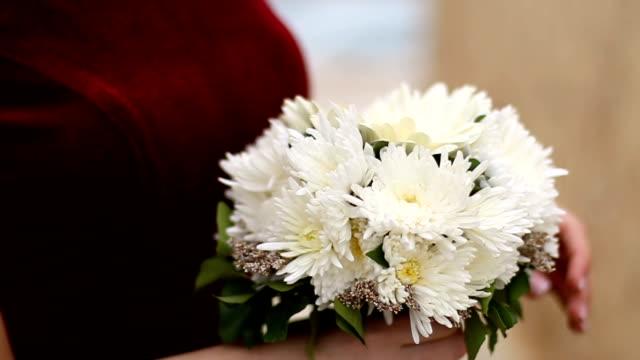 Bouquet in Händen