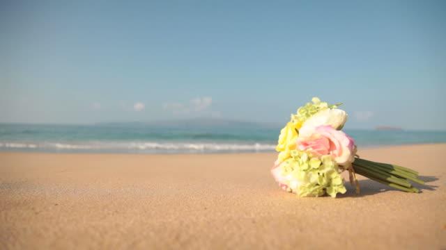 Bouquet sulla spiaggia