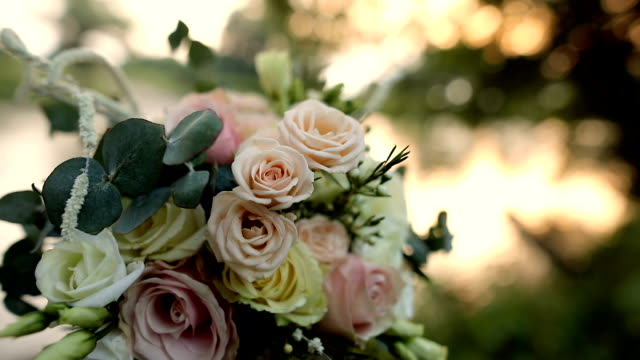 bouquet outside by the river - floral pattern stock videos & royalty-free footage