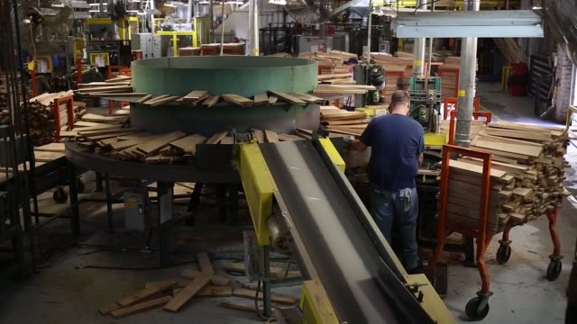 bourbon barrels are manufactured at the brownforman corp cooperage in louisville kentucky us on thursday april 20 2017 shots wide shot of many... - kentucky stock videos & royalty-free footage