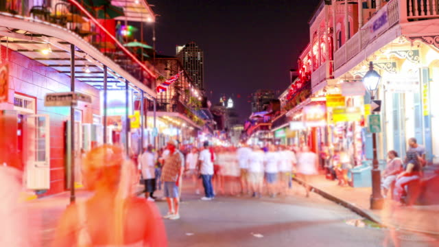bourbon street, new orleans - security screen stock videos & royalty-free footage