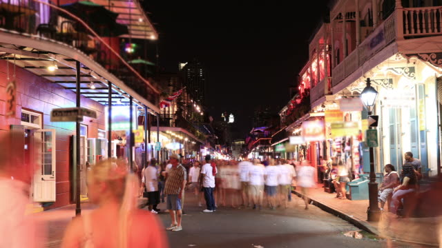bourbon street, new orleans - louisiana stock videos & royalty-free footage