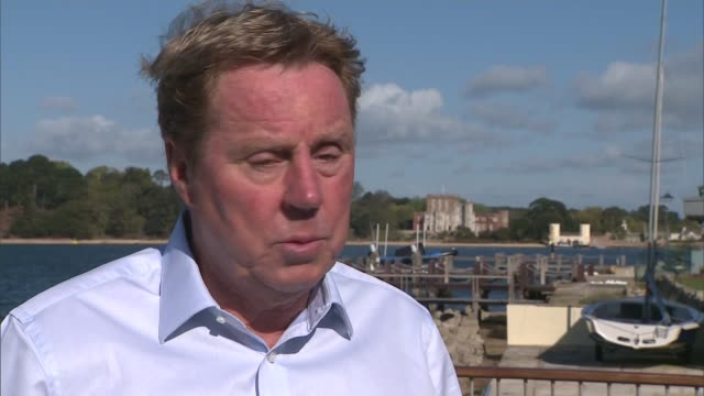 bournemouth celebrate promotion to premier league england bournemouth ext harry redknapp interview sot - ハリー レッドナップ点の映像素材/bロール