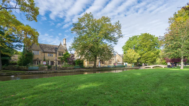 bourton-on-the-water in cotswolds, gloucestershire, england - 4k time-lapse - 1953 stock videos & royalty-free footage