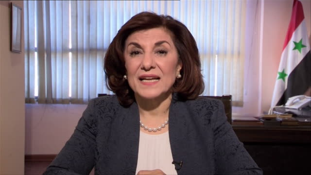 Bouthaina Shaaban Adviser to Syrian President Bashar alAssad saying Donald Trump 'knows that Syria did not use chemical weapons'
