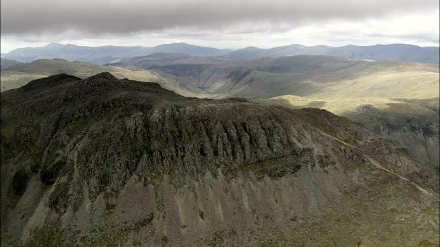 Bow Fell  - Aerial View - England, Cumbria, Copeland District, United Kingdom
