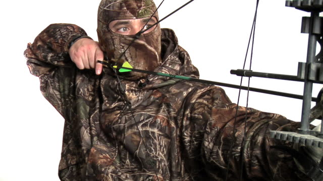 bow hunter - bow and arrow stock videos and b-roll footage