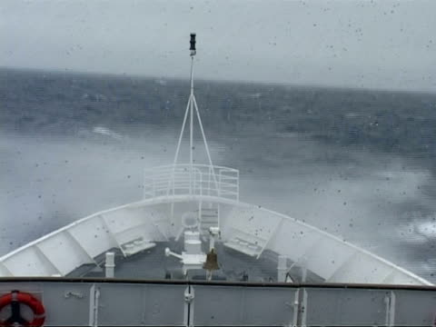 ms bow in rough sea riding sea swell, antarctica - ship's bow stock videos & royalty-free footage