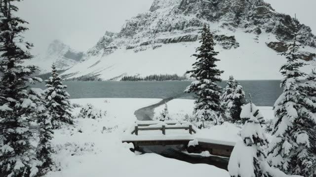bow lake winter - coastline stock videos & royalty-free footage