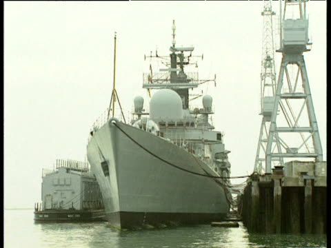 bow of naval ship - authority video stock e b–roll