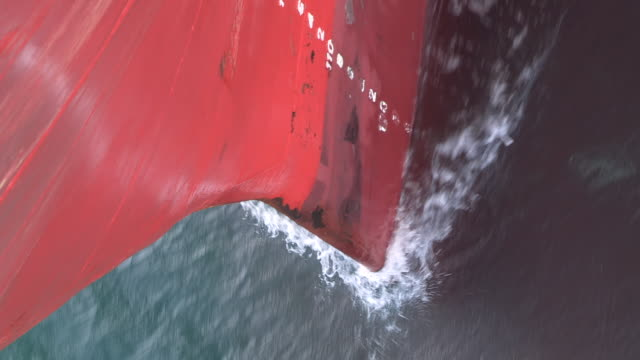 cu bow of ship cutting through water - ship's bow stock videos & royalty-free footage
