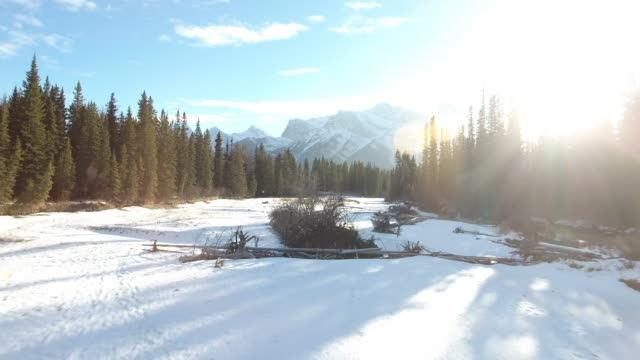 Bow River Aerial Winter 7