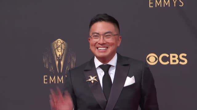 bowen yang arrives to the 73rd annual primetime emmy awards at l.a. live on september 19, 2021 in los angeles, california. - emmy awards stock videos & royalty-free footage
