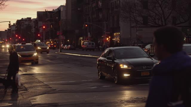 Bowery Street in Manhattan at Night